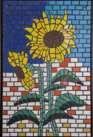 2 zonnenbloemen