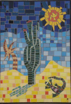 Cactus en palm in Spaanse zon